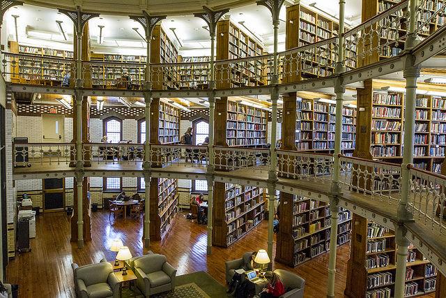 Photo of beautiful Linderman Library